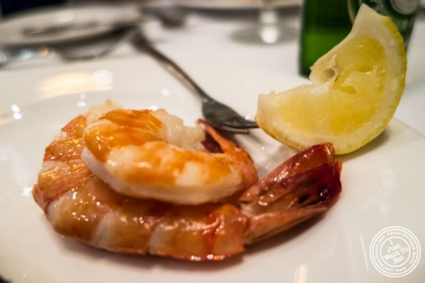 Shrimp cocktail atBenjamin Steakhouse in New York, NY