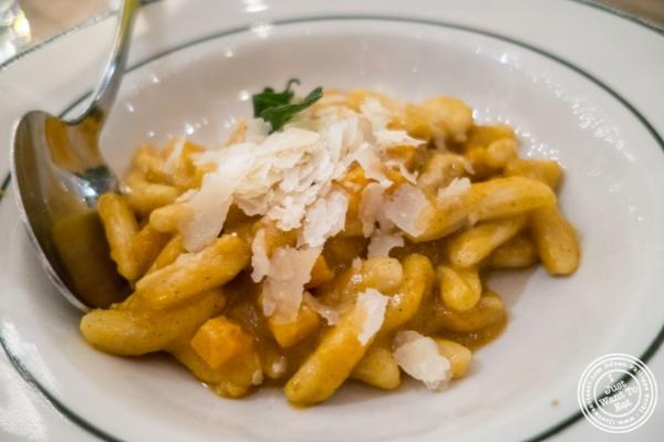 Cavatelli at  Rosemary's, Italian Restaurant in NYC, New York