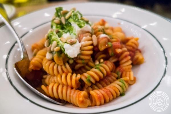 Fusilli alla Napoletana at  Rosemary's, Italian Restaurant in NYC, New York