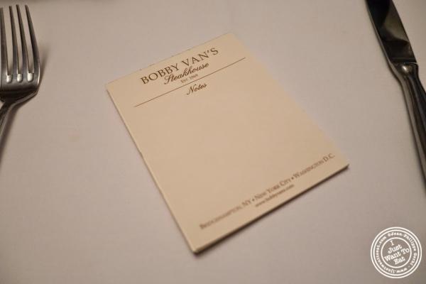 notes at Bobby Van's Grill in New York, NY