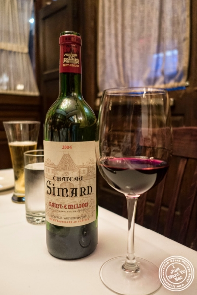 Chateau Simard Saint Emilion 2004 at Bobby Van's Grill in New York, NY