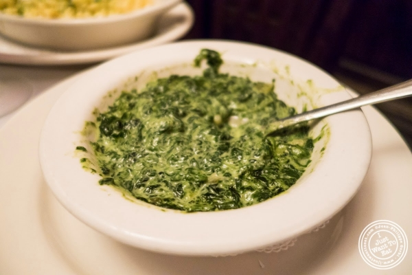 creamed spinach at Bobby Van's Grill in New York, NY