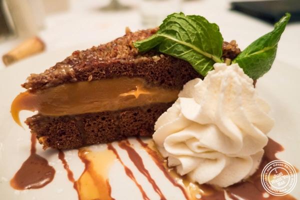 pecan caramel fudge pie at Bobby Van's Grill in New York, NY
