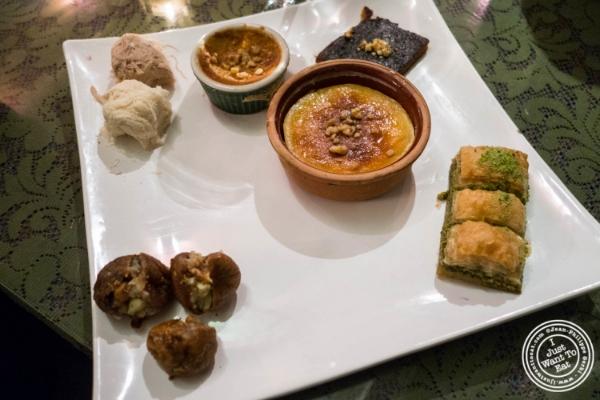 Dessert platter atTurkish Cuisine in Hell's Kitchen, NYC, New York