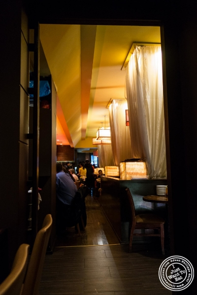 Dining room at Saigon 48, Asian restaurant near Times Square, NYC, New York