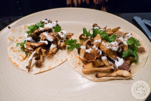 mushroom tacos at Empellon Taqueria in New York, NY