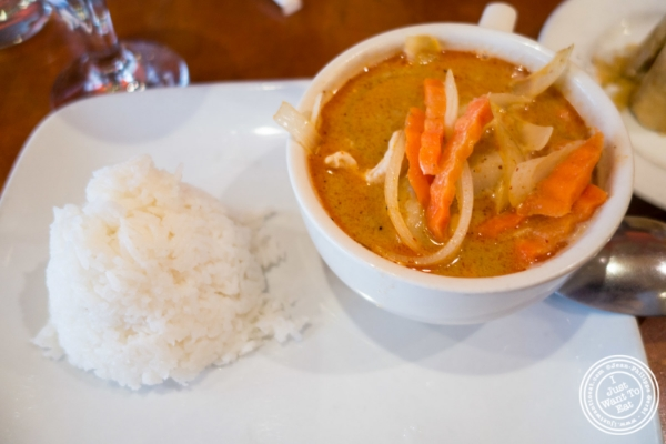 Chicken curry Massaman at Chili Thai in Hell's Kitchen, NYC, New York