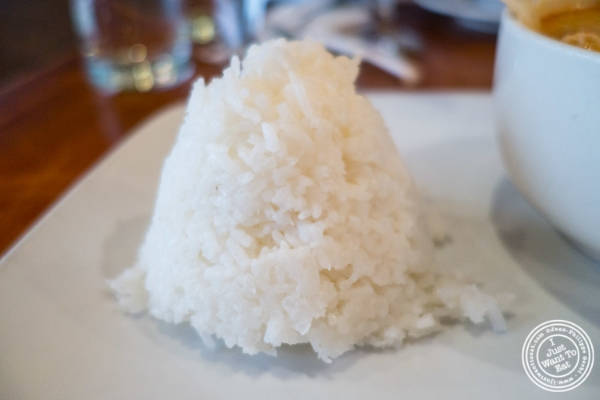 Rice at Chili Thai in Hell's Kitchen, NYC, New York
