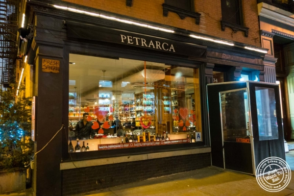 Petrarca Cucina e Vino, Italian restaurant in Tribeca, NYC, New York