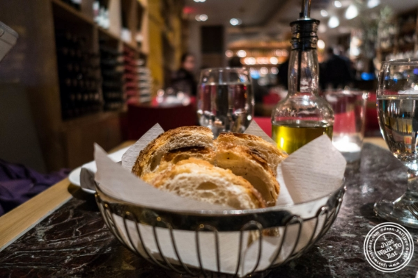 Bread at Petrarca Cucina e Vino, Italian restaurant in Tribeca, NYC, New York