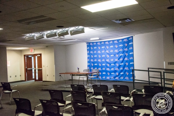 Press conference room at Citi Field, home of the NY Mets