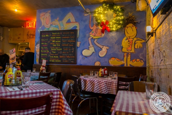 Dining room at  Bill's Bar and Burger in the Meatpacking District, NYC, New York
