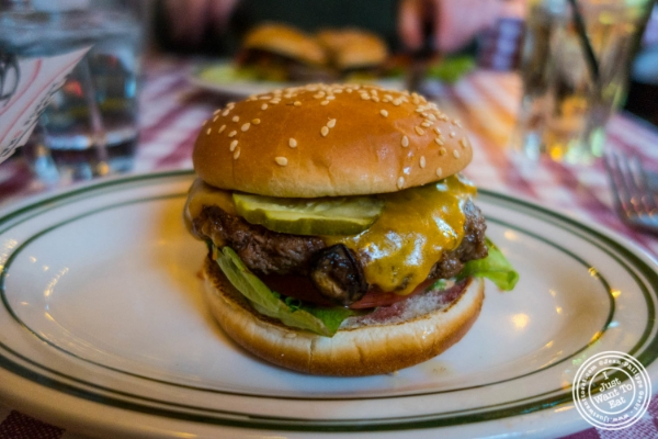 Cheeseburger at  Bill's Bar and Burger in the Meatpacking District, NYC, New York