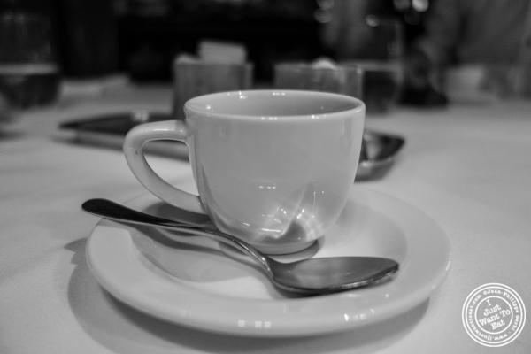 espresso at The Russian Tea Room in NYC, NY