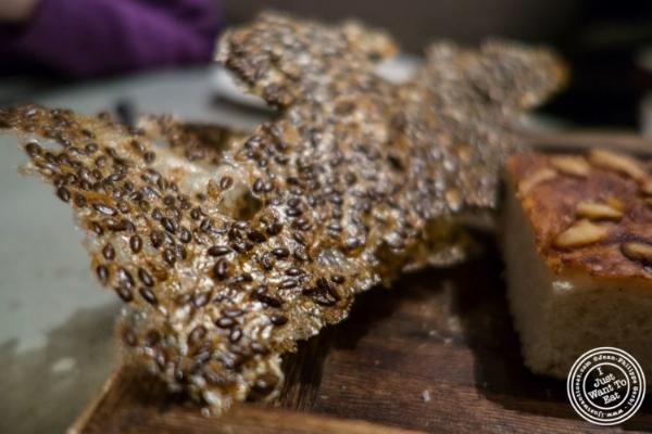 Flaxseed crisp    at Blenheim in NYC, Ne  w York