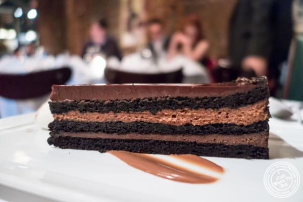 Tribeca chocolate cake atTribeca Grill in NYC, New York