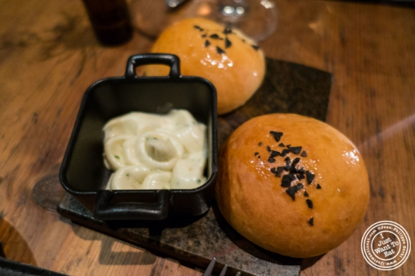 Potato buns at Marc Forgione restaurant in Tribeca, NYC, New York