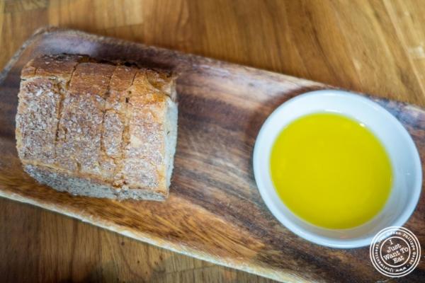 Bread and olive oil atL'Apicio, Italian-inspired restaurant in Greenwich Village