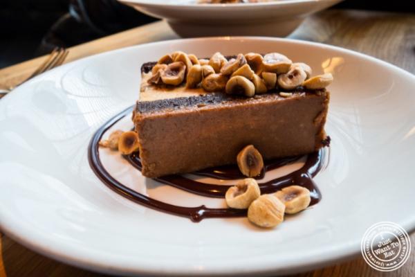 Chocolate hazelnut ice cream cake at    L'Apicio, Italian-inspired restaurant in Greenwich Village