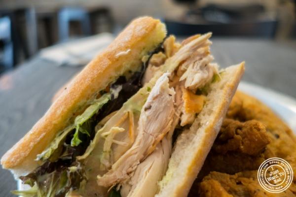 Chicken sandwich atPoulette, Rotisserie Chicken, in Hell's Kitchen, NYC, New York