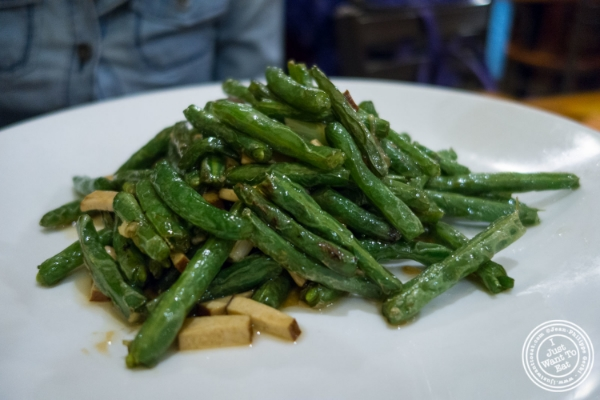 string beans at  Pad Thai, Thai restaurant in NYC, New York