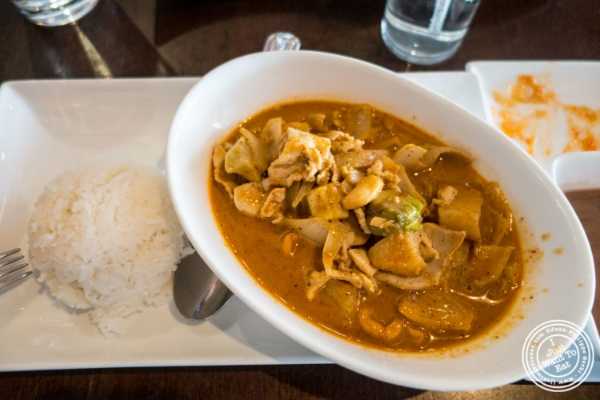 Chicken curry massaman at Q2 Thai in Hell's Kitchen, NYC, New York