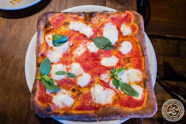 Quadrata pizza at  Da Mikele by Luzzo's in Tribeca, NYC, New York