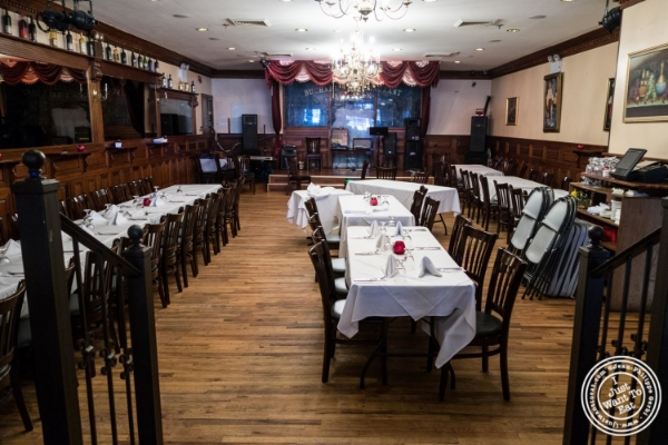 Dining room at Bucharest, Romanian restaurant in Sunnyside, Queens