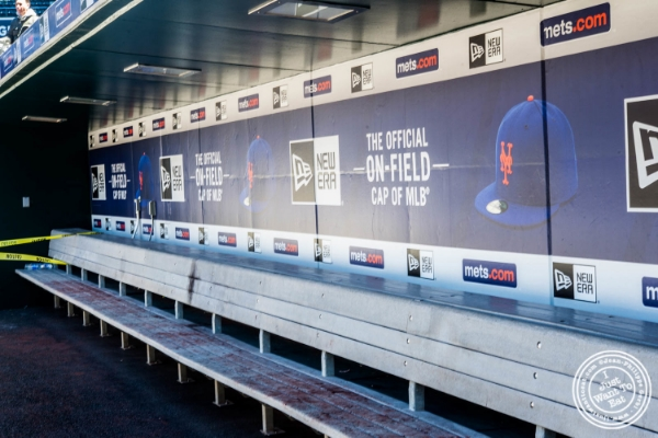Dugout at Citi Field in Queens, NY