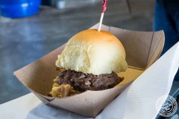 Whitman's bacon and peanut butter burger atBacon and Beer Classic 2015 At Citi Field