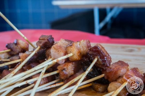 Maple bacon stick from Landhaus at  Bacon and Beer Classic 2015 At Citi Field