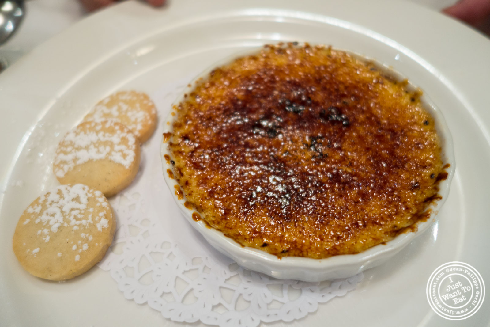 Creme brûlée at Rue 57 in NYC, New York