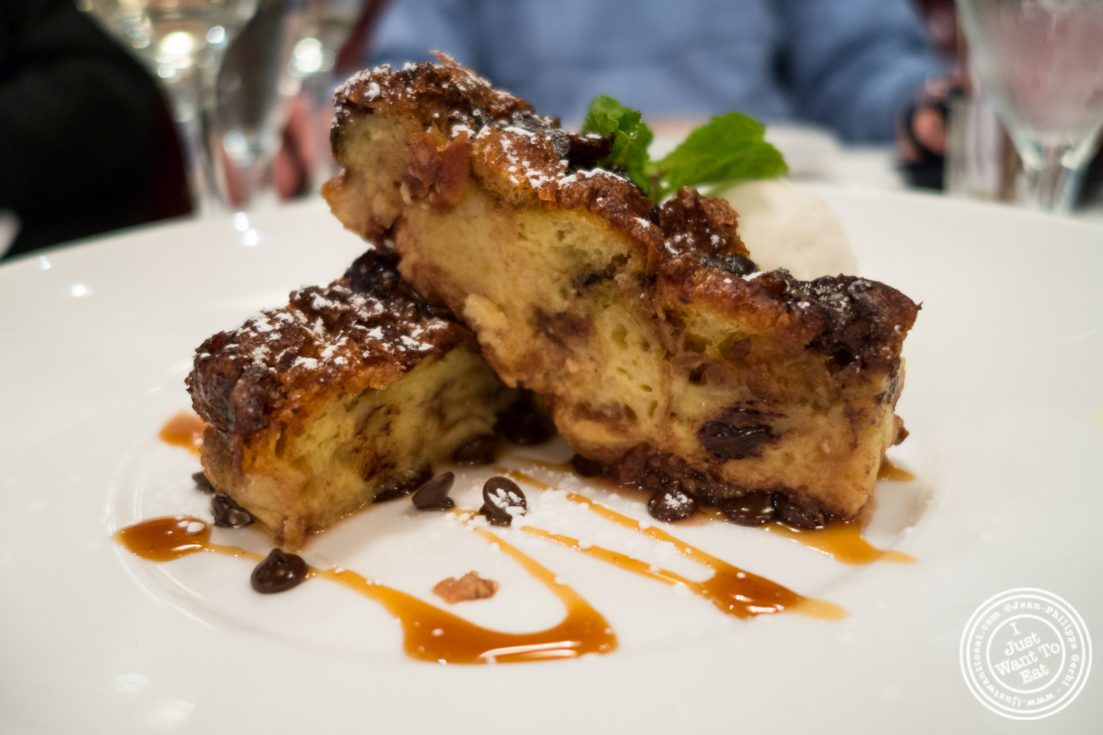 Grand Marnier bread pudding at Rue 57 in NYC, New York