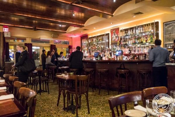 Dining room atCafé Noir in TriBeCa, NYC, New York
