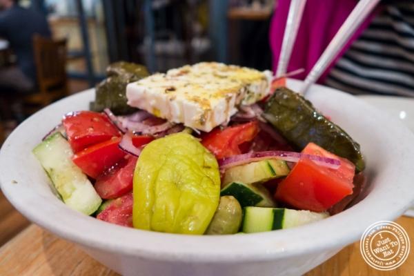 Greek salad atUncle Nick's, Greek Restaurant in NYC, New York