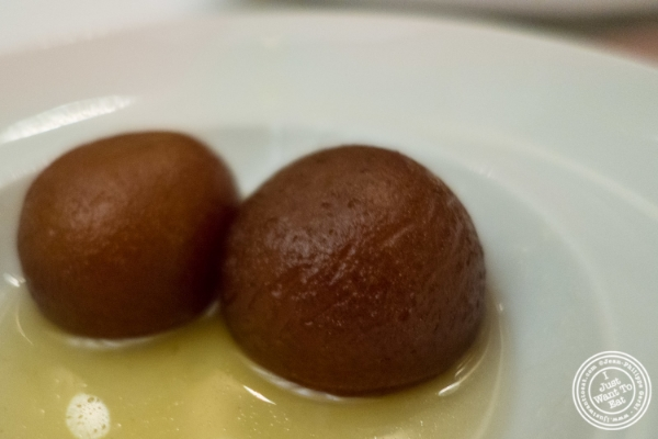 Gulab jamun at Tamarind in TriBeCa, NYC, New York