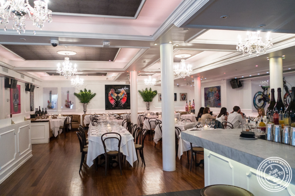 Dining room at Bagatelle  in the Meatpacking District, NYC, New York