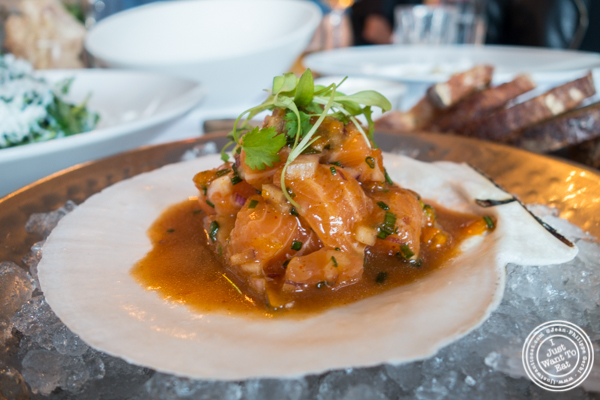 Ceviche de Saumon Sauvage atBagatellein the Meatpacking District, NYC, New York