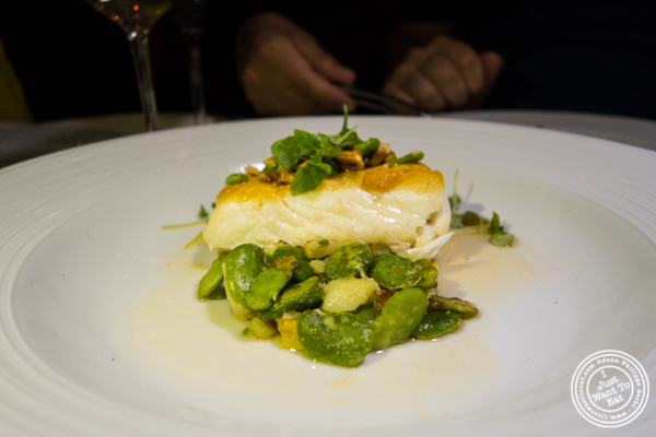 Halibut atBagatellein the Meatpacking District, NYC, New York