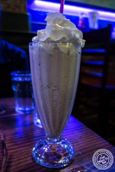 Oreo cookie milkshake atBlack Iron Burger in Chelsea, NYC, New York