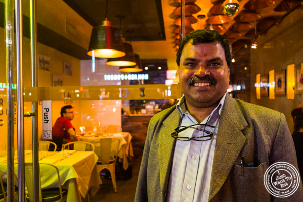 Executive Chef Hemant Mathur at Haldi, Indian restaurant in Curry Hill, NYC, New York