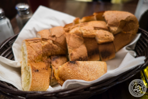 Garlic bread atPatzeria Family and Friends in NYC, New York