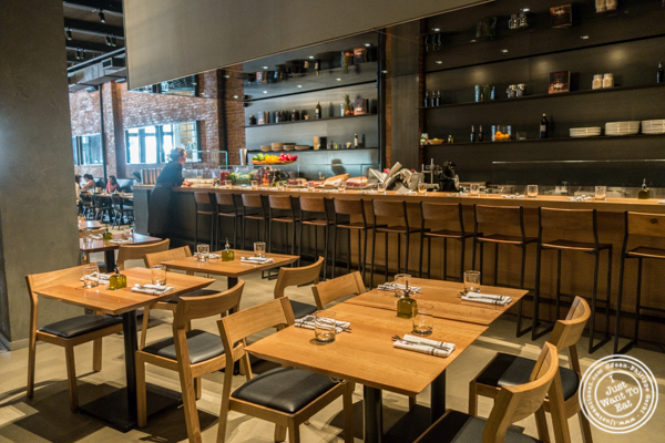 Dining room at Obica, Italian restaurant in NYC, New York