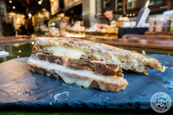 Grilled cheese at Beecher's cheese shop in NYC, New York