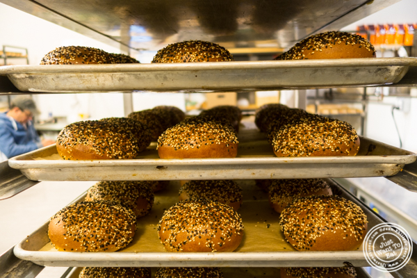 Burger buns at  Breads bakery in NYC, New York