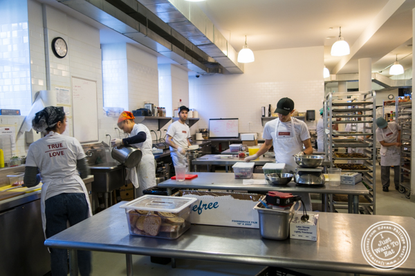 The kitchen at Breads bakery in NYC, New York