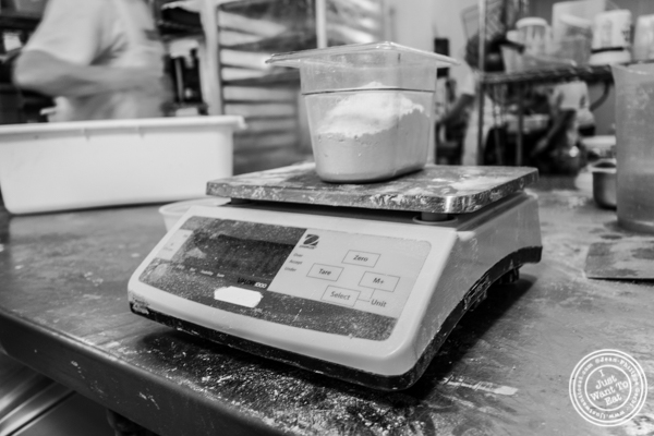 Scale at Breads bakery in NYC, New York