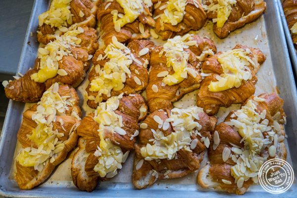 Almond croissants at  Breads bakery in NYC, New York