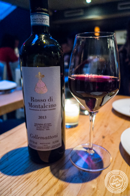 Rosso di Montalcino, Collemattoni, 2013 at L'Artusi, Italian Restaurant in the West Village, NYC, New York