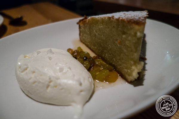 Olive oil cake at     L'Artusi, Italian Restaurant in the West Village, NYC, New York
